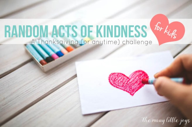 Want to make the holidays meaningful for your family? This free printable Random Acts of Kindness Bingo game is a great way to get everyone involved in giving thanks and spreading love...any time of year!