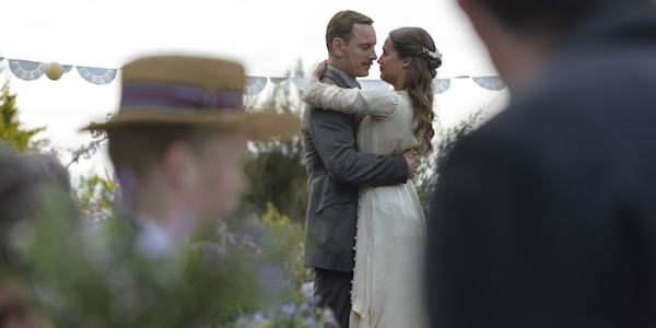 Vikander and Fassbender in THE LIGHT BETWEEN OCEANS