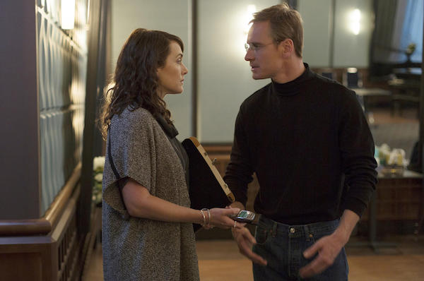 Fassbender and Winslet in STEVE JOBS