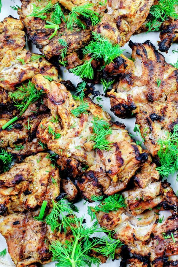 . Top grill recipe! Marinate boneless chicken thighs in Mediterranean ...