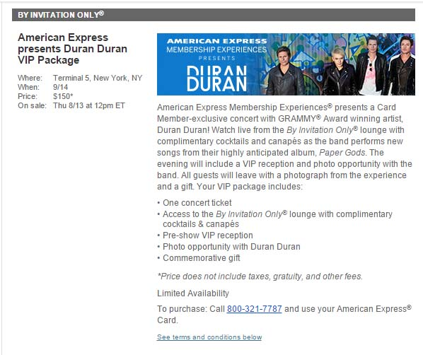 By Invitation Only Duran Duran The Member Experience