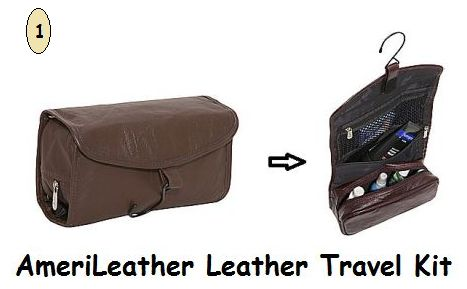 AmeriLeather Leather Travel Kit1
