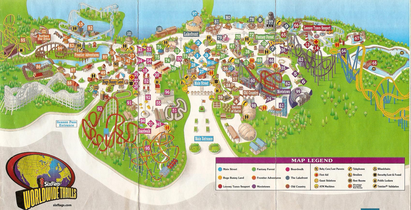 Theme Park Brochures Six Flags Great Adventure   Theme Park Brochures