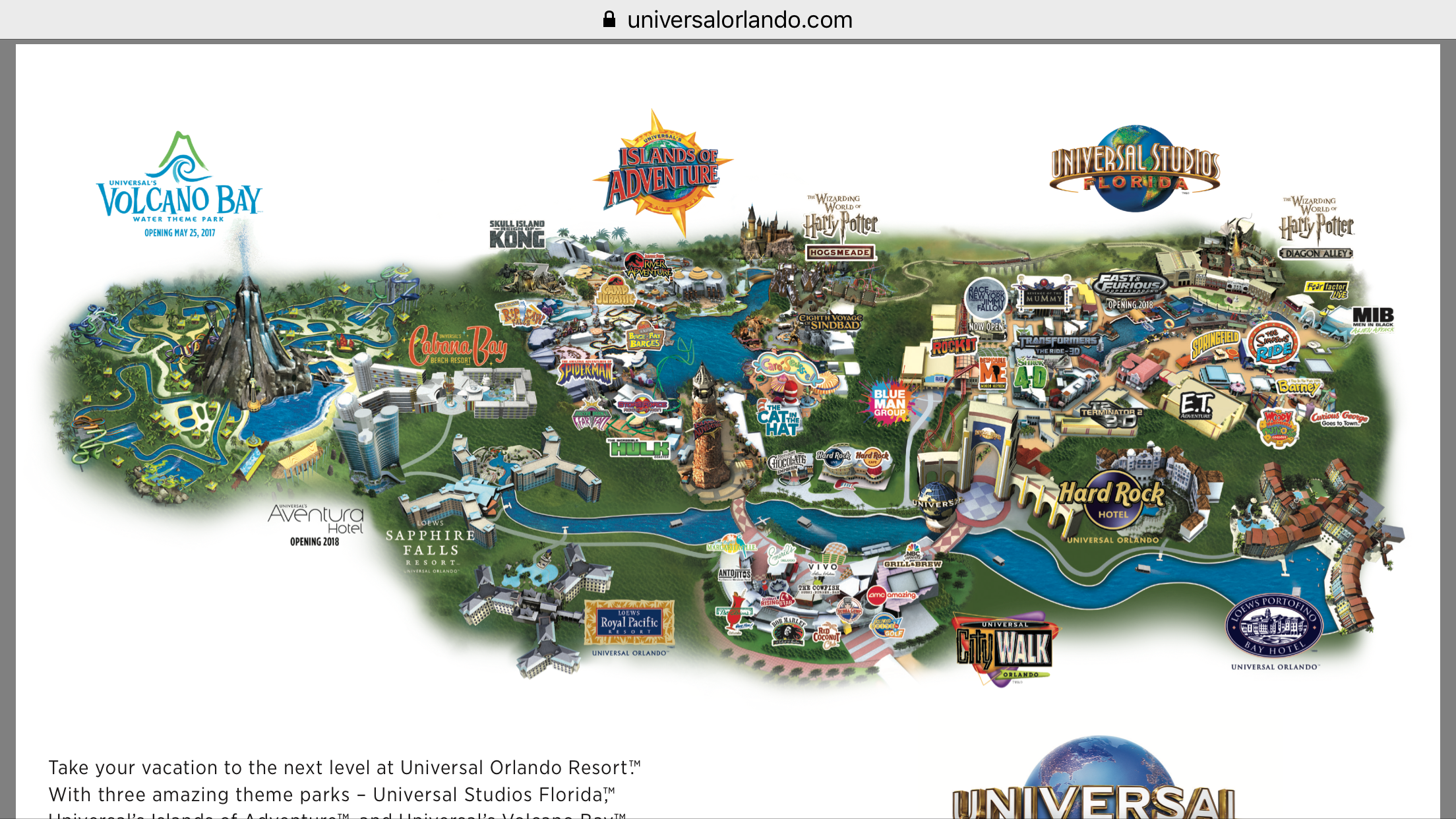 Universal Orlando Resort Map Themeparkhipster