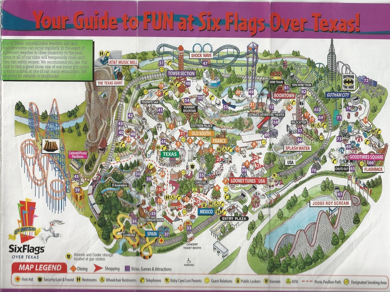 Six Flags Over Texas   2006 Park Map Photo By  molemaster43