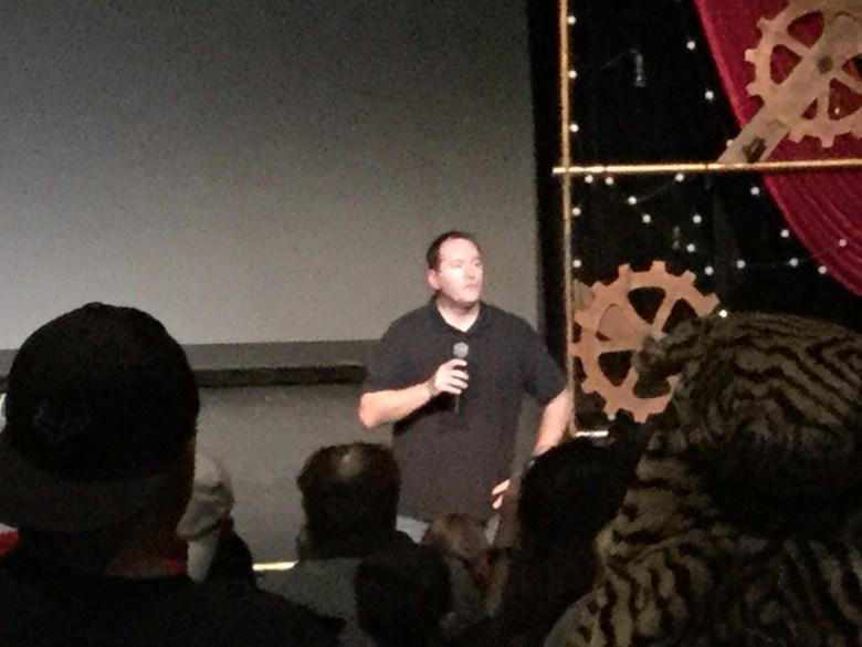 We got in and the man him self Kurt (aka The Coaster Guy) Presented the film!