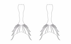 Small Of Mermaid Tail Outline