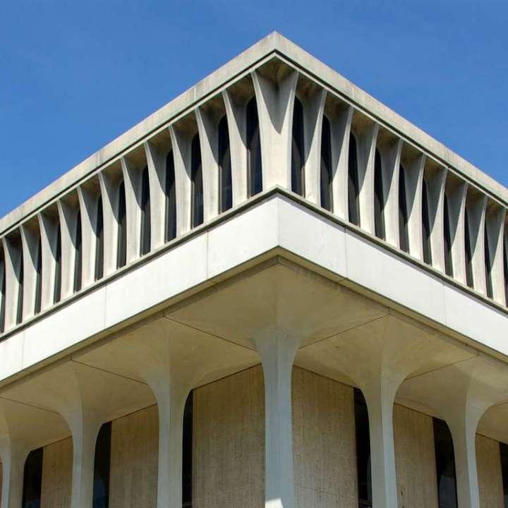 Robertson Hall, home of the Woodrow Wilson School of Public & International Affairs, Princeton University