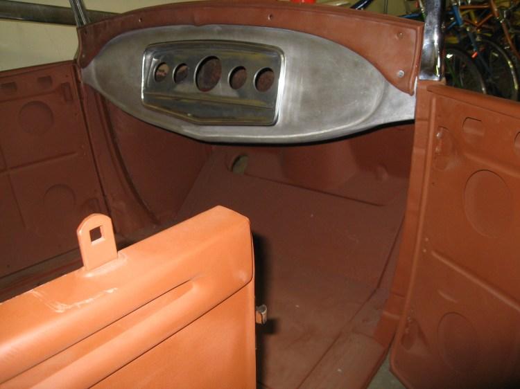 1929 Ford custom dashboard - Auburn instrument panel