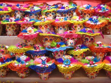 Sugar skulls at the Feria de Alfeñique in Toluca, Estado de Mexico