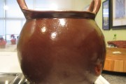 My new clay bean pot, purchased from Xoxoc, a husband-and-wife team based in Hidalgo state