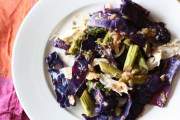 Roasted purple cabbage salad with garlic-chipotle vinaigrette