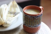 Pineapple atole, made with fresh masa
