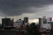 Ominous clouds in Mexico City