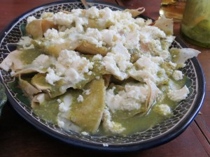 Chilaquiles at Casa Crespo. Photo by Dolores Wiarco Dweck.