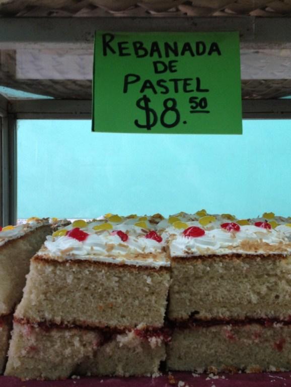 Cake inside a bakery in San Luís Potosí.