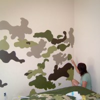 DIY Paint A Camouflage Wall