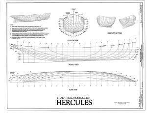 free, ship, plan, steam, tug, Hercules, lines, drawing, boat, vessel