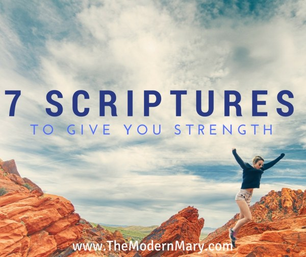 7 powerful scriptures (verses) about strength.