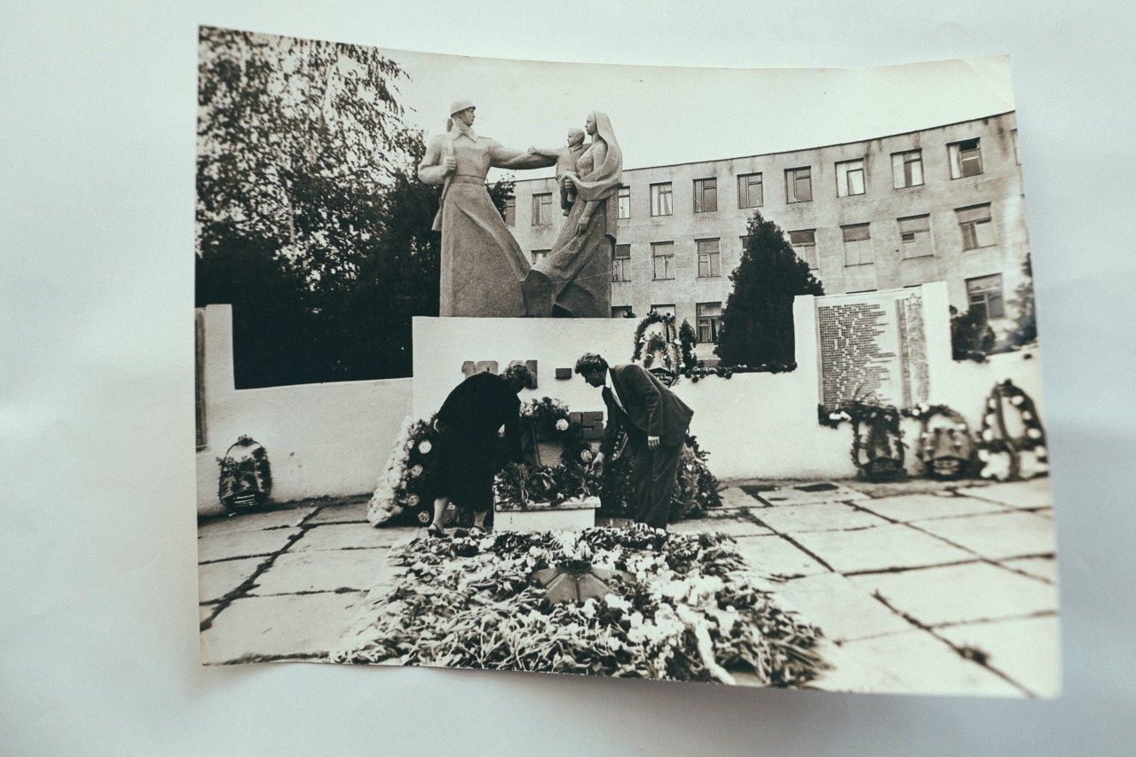 Old photograph of WWII Memorial in Moscovei.