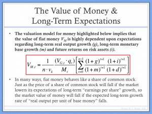 Value of Money and Long Term Expectations