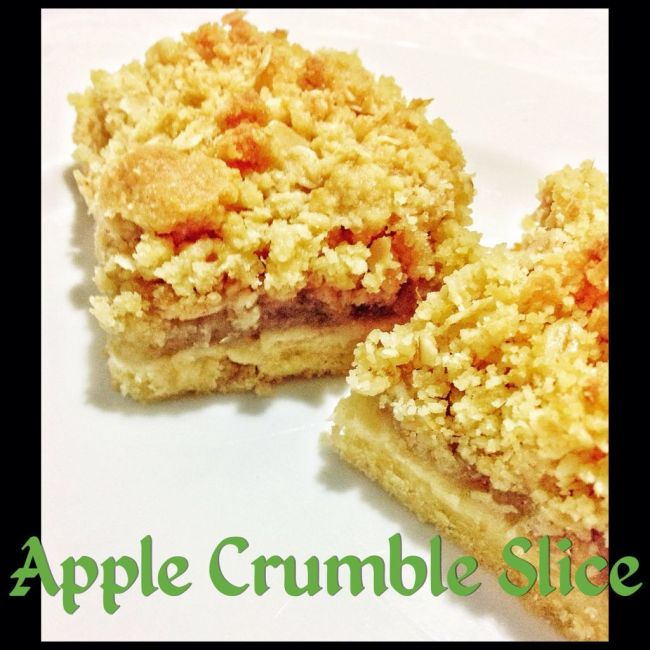 apple crumble slice thermomix method included mother hubbard 39 s cupboard. Black Bedroom Furniture Sets. Home Design Ideas