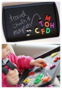 kid chalkboard travel board