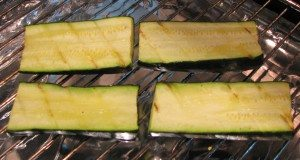Mozzarella Courgettes grilled one side