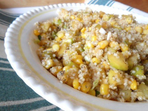 Quinoa Zucchini and corn in lemon butter by housewives of frederick county