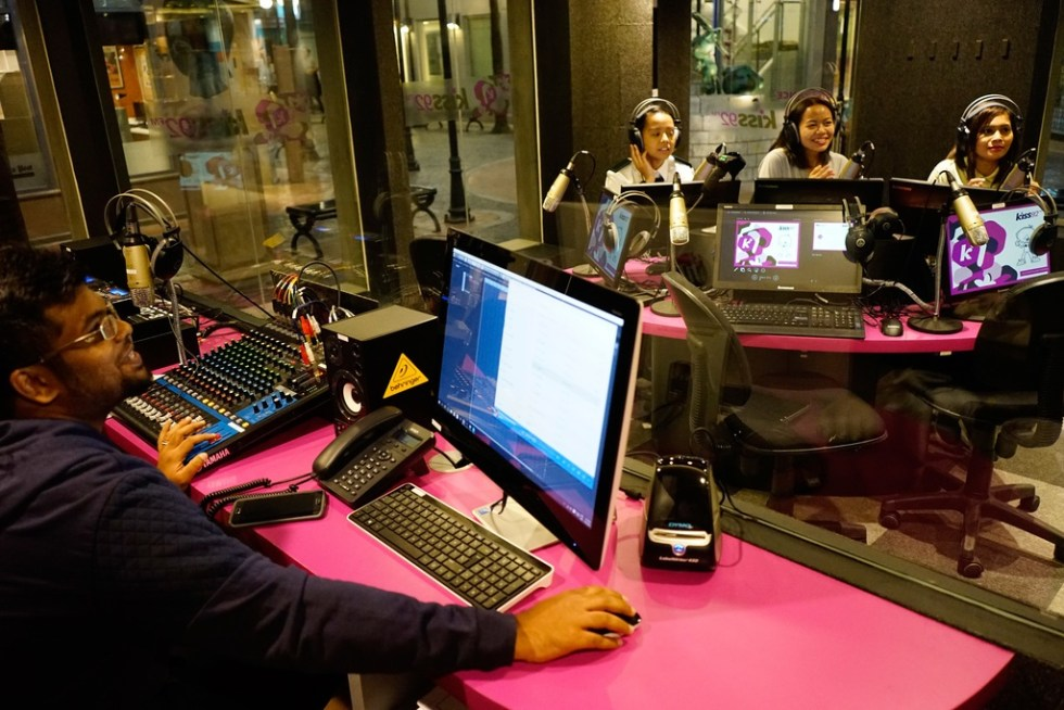 KidZania SG - Staff running through the role-play programming at the radio station