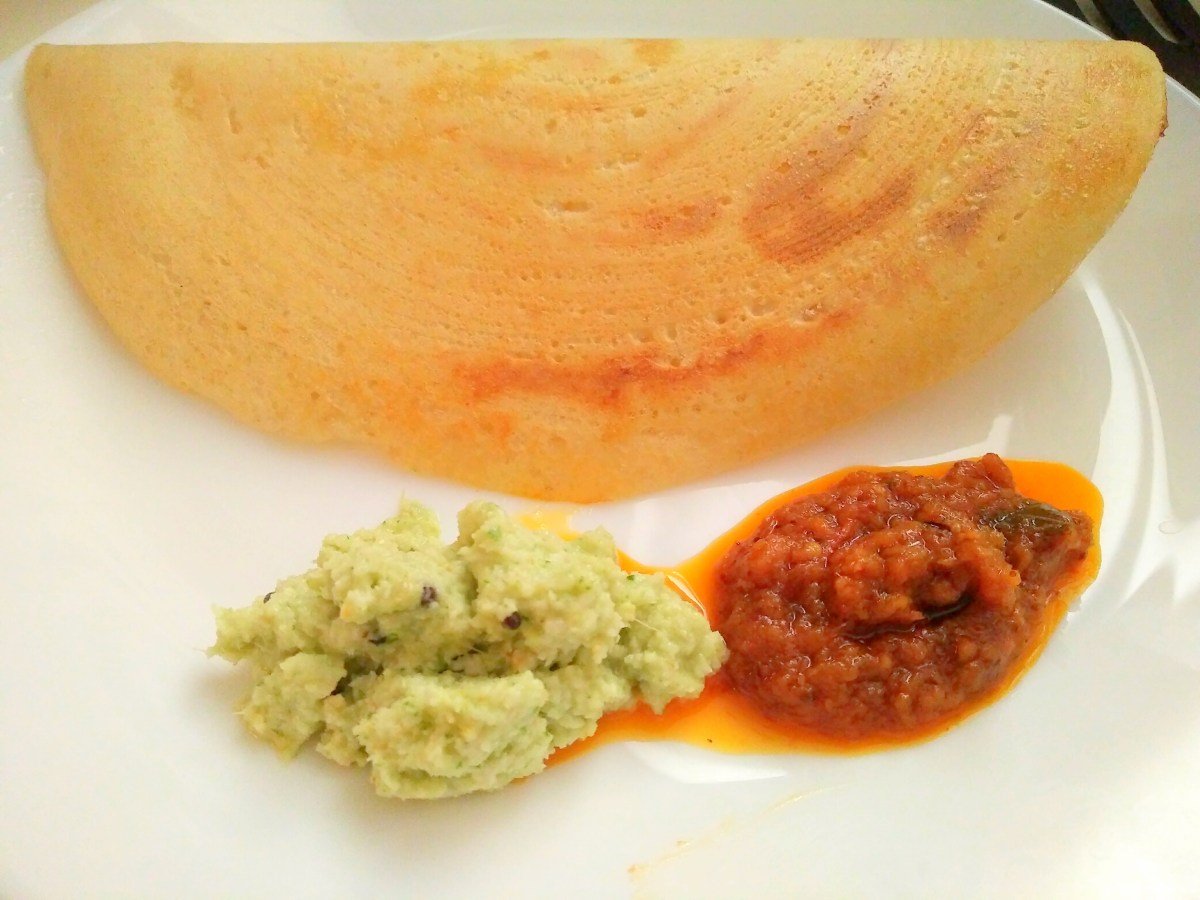 Brown Rice Dosa & coconut chutney!