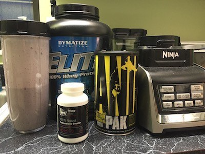 post-workout-shake-and-supplements-with-prime-male