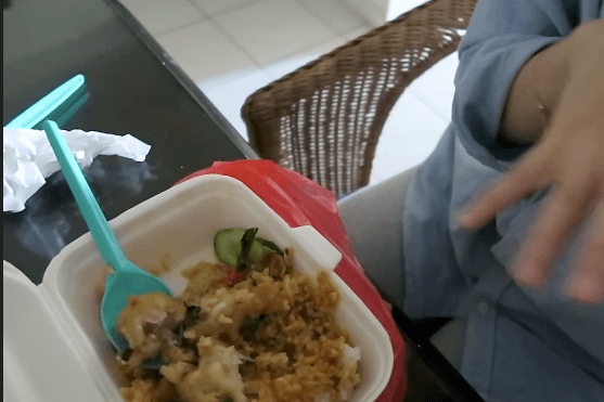 Snippets from my vlog : My lunch that I couldn't see then.