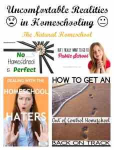 Uncomfortable Realities in Homeschooling (Link Party 57)