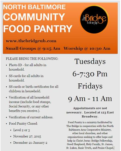 Food Pantry Flyer Oct. 2015