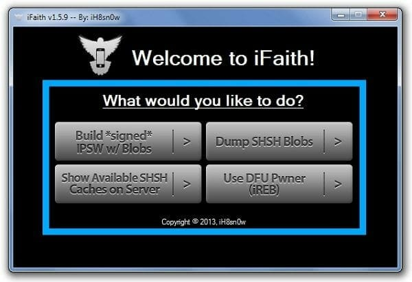 Build Signed IPSW iFaith Downgrade iOS 7 to iOS 6.1.2 / iOS 6.1.3
