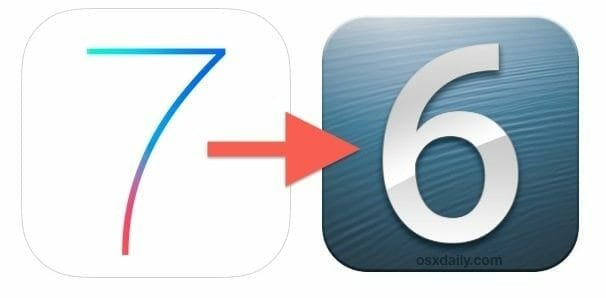 downgrade ios 7 Downgrade iOS 7 to iOS 6.1.2 / iOS 6.1.3