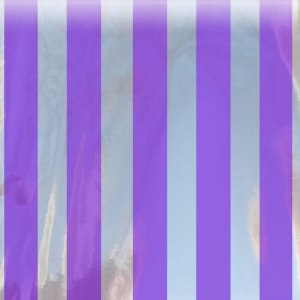 purple striped mylar bag small