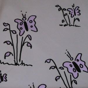Butterfly pattern mylar bag