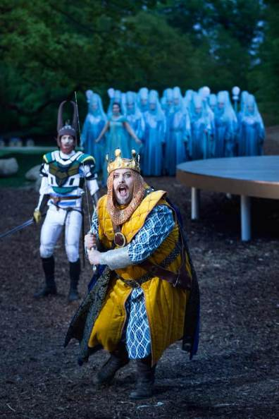 The Royal Theater's summer production of King Arthur in Dyrehaven Park, Copenhagen, Denmark.
