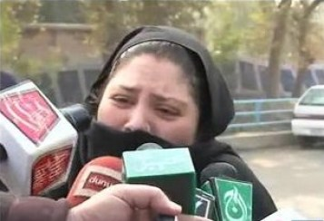Victim's Family of APS Peshawar crying