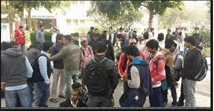 Protest to Change the CGPA System in NED University