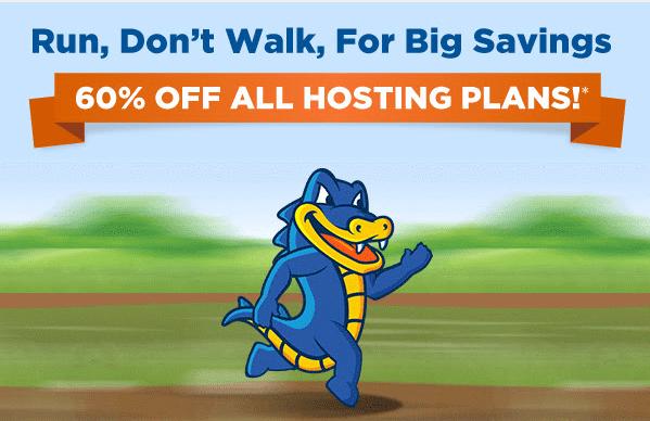 Hostgator 60% Coupon – Now save 60% off all new Hostgator hosting package