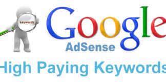 most high payable keywords on google adsense