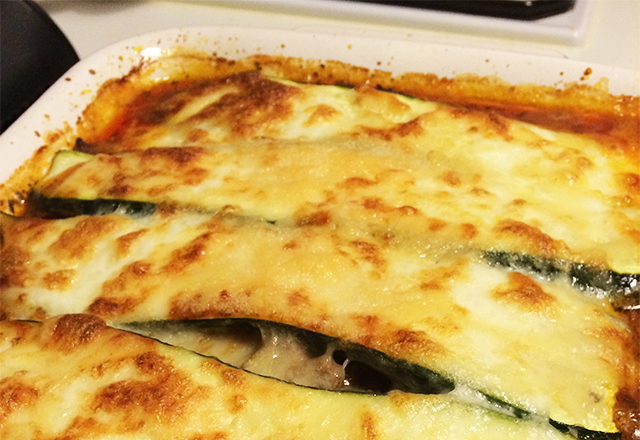 Chicken and Zucchini Lasagnas