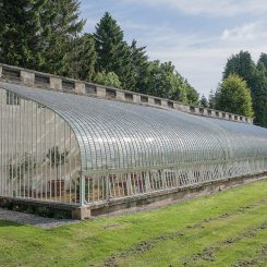 Fit for another 100 years, the greenhouse once again graces the lawns at Felton Park