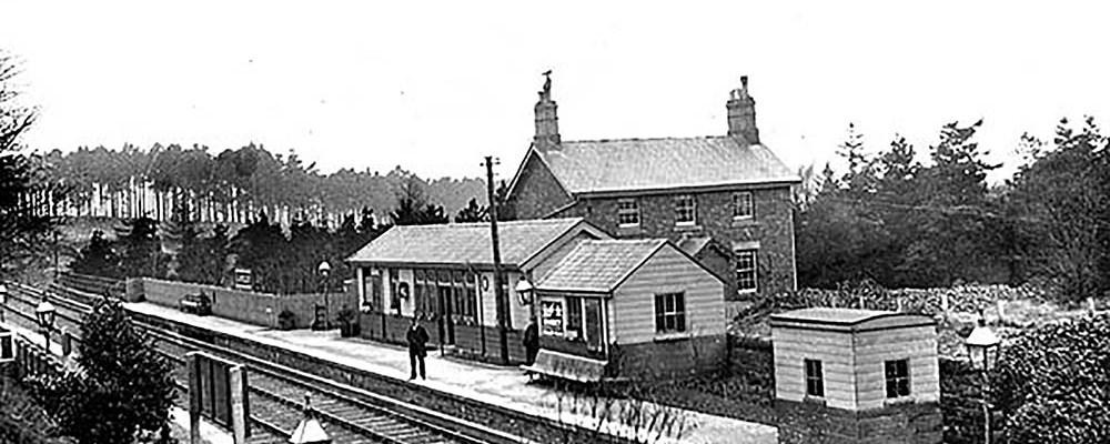 Langley station c 1900