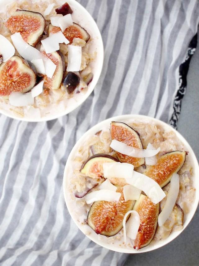 Coconut, Honey, and Fig Oatmeal #oatmealartist #vegan