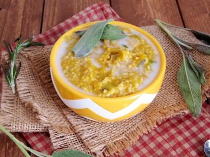 herbed pumpkin leek oatmeal 001