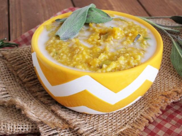 herbed pumpkin leek oatmeal 003